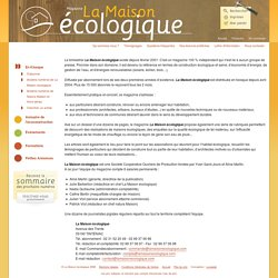 La Maison écologique - La Maison écologique