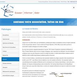 La maladie de Menière - J.-P. Demanez, et L. Demanez