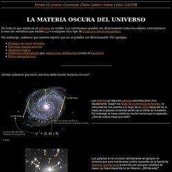 LA MATERIA OSCURA DEL UNIVERSO