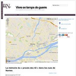 La mémoire du « procès des 42 » dans les rues de Nantes