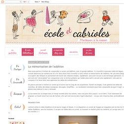 Ecole et Cabrioles, une école Montessori à la maison : La mémorisation de l'addition