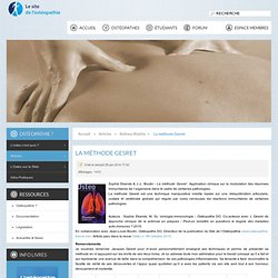 28/06/14 La méthode Gesret - Sophie Ekande & Jean-Louis Boutin: Ostéopathes