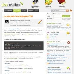 La méthode insertAdjacentHTML