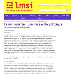 La non-mixité : une nécessité politique