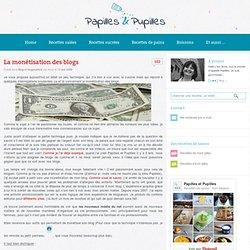 La monétisation des blogs