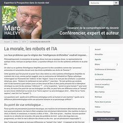 La morale, les robots et l'IA