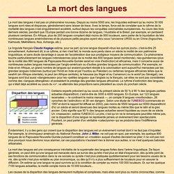 La mort des langues