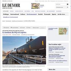 Transport pétrolier vers Belledune : la motion du PQ est rejetée