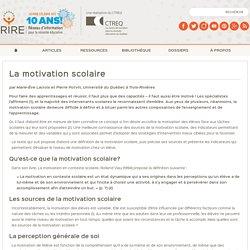 La motivation scolaire (2009) [version intégrale]