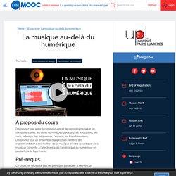 MOOC : La musique au-delà du numérique