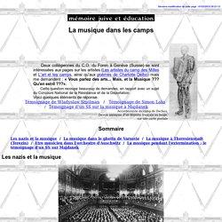 La musique dans les camps nazis