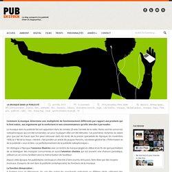 La musique dans la publicité