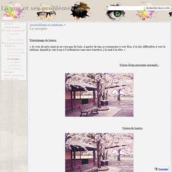 La myopie. - La vue et ses problèmes
