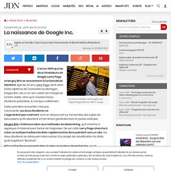 La naissance de Google Inc.