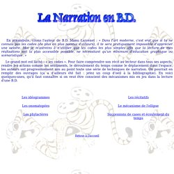 La narration en B.D.