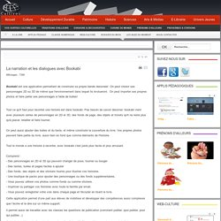 La narration et les dialogues avec Bookabi