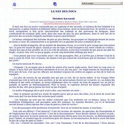LA NEF DES FOUS - Théodore Kaczynski 1999