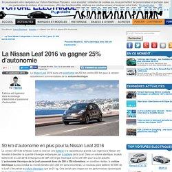 La Nissan Leaf Gagne 25% D'autonomie