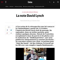 La note David Lynch - Le fil cinéma