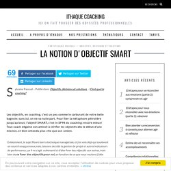 La notion d'objectif SMART