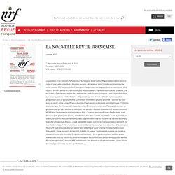 La Nouvelle Revue Française - La Nouvelle Revue Française