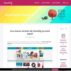 ¡¡La nueva versión de Genially ya está aquí!!