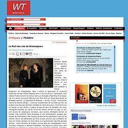 Théâtre : La Nuit des rois de Shakespeare - Webthea