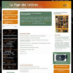 La Page des Lettres