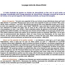 La page noire de Jésus-Christ