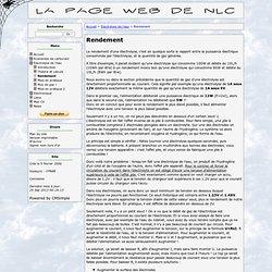 La page web de nlc - Rendement