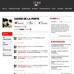La page de Xavier de La Porte
