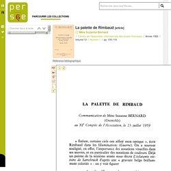 La palette de Rimbaud