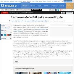 La panne de WikiLeaks revendiquée