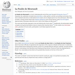 La Paulée de Meursault