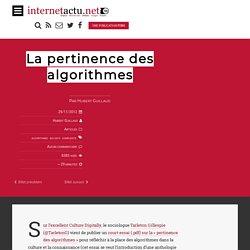 La pertinence des algorithmes