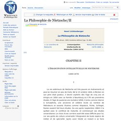 La Philosophie de Nietzsche/II