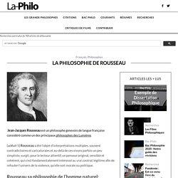 La philosophie de Rousseau