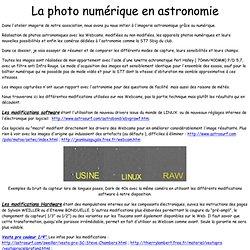 La photo numérique en astronomie