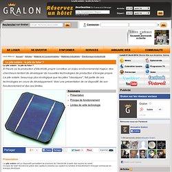 La pile solaire : la pile du futur ?