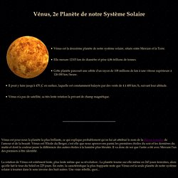 Vénus située entre Mercure et le Terre