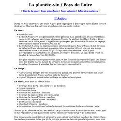 La planète-vin / Pays de Loire