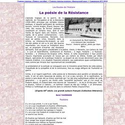 La poésie de la Résistance (site La Langue Française)