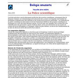expé police scientifique