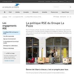La politique RSE du Groupe La Poste