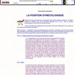 La position gynécologique