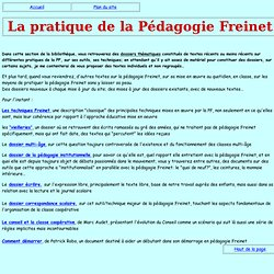 La pratique de la Pédagogie Freinet
