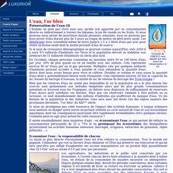 La préservation de l'eau