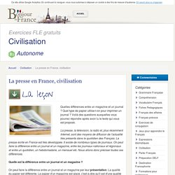 La presse en France, civilisation