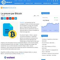 La preuve par Bitcoin