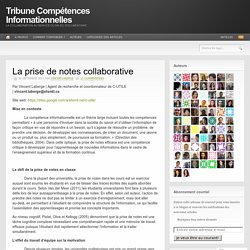 La prise de notes collaborative